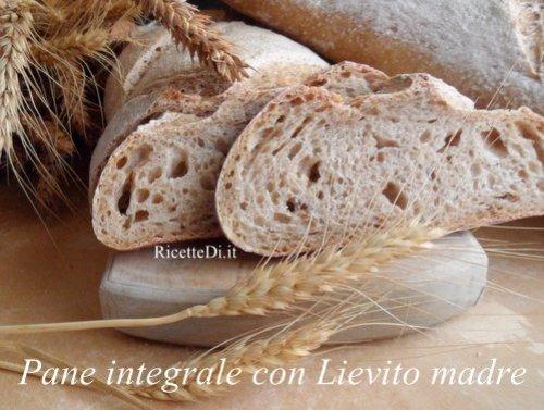pane integrale con lievito madre