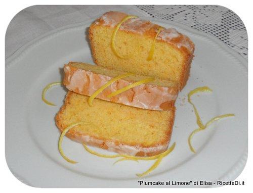 plumcake con glassa al limone