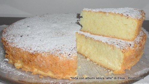 torta senza latte con albumi