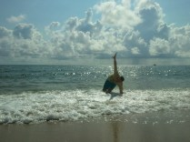 Me playing in the waves