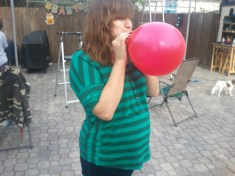 Blowing up baloons