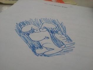 Tina's doodling