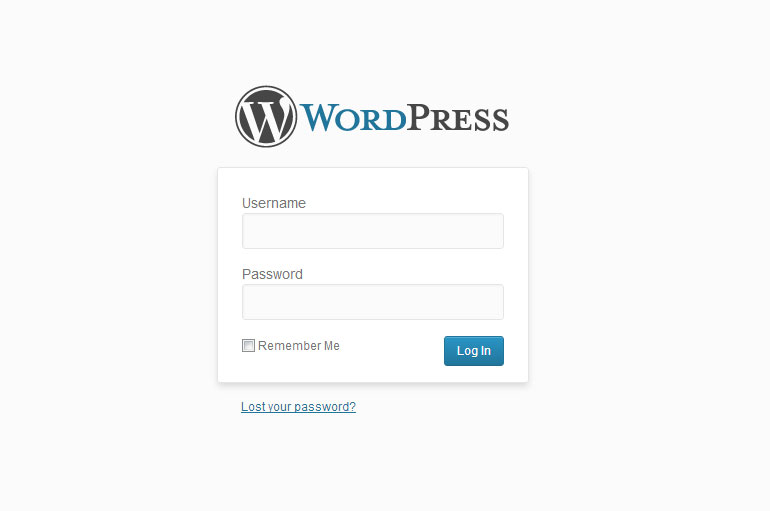 What is WordPress login screen