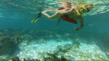 Kim enjoying the reef