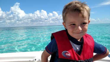 Rylan on the boat