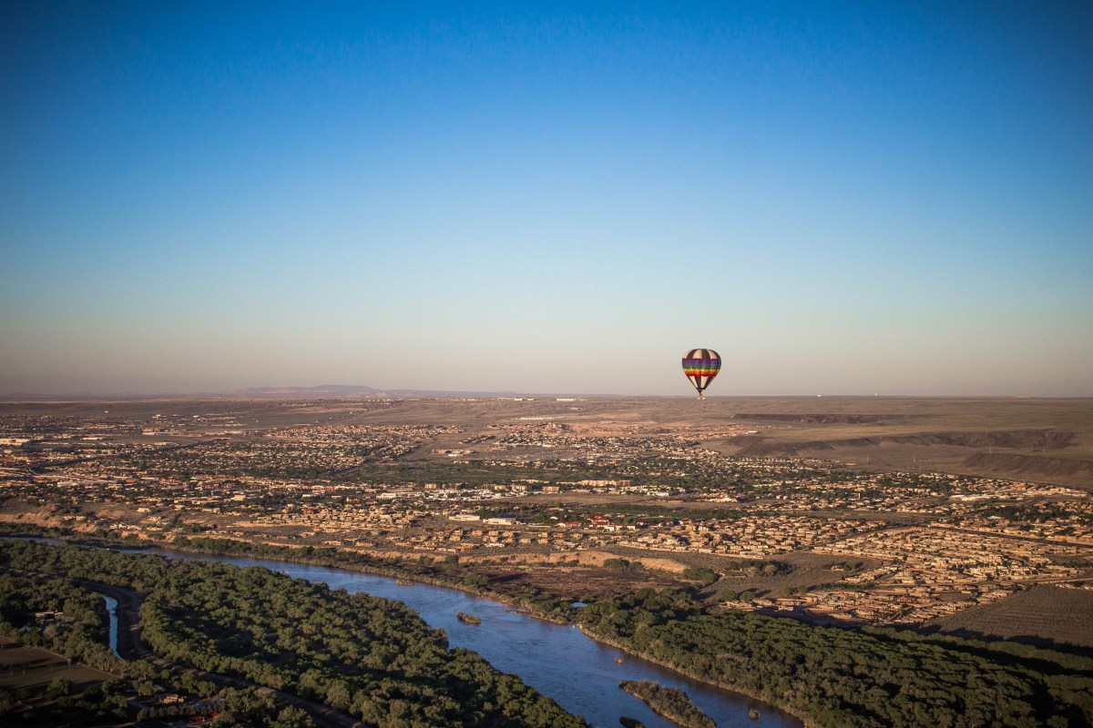 Balloon over ABQ