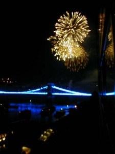 Budapest Blue Bridge fireworks