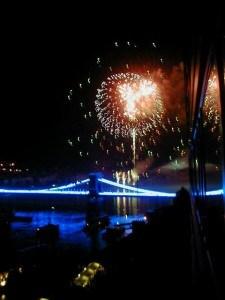 budapest Blue Bridge fireball
