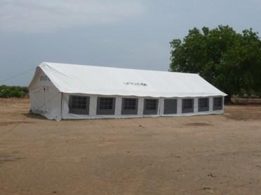 UN Tent near school