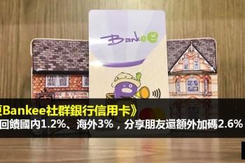遠東Bankee社群銀行信用卡》國內現金回饋1.2%、海外現金回饋3%,分享朋友還額外加碼2.6%?