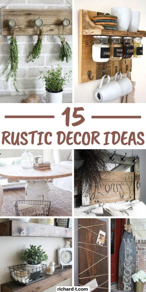 15 Cheap Easy Diy Rustic Home Decor Ideas