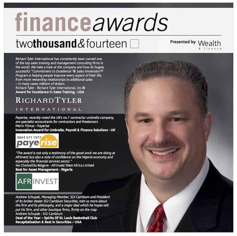 Richard Tyler International, Inc ® Wins Award for Excellence in