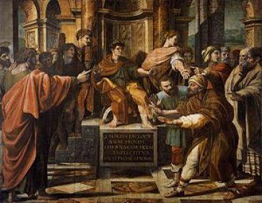 """Saul rebukes Elymas """"child of the devil"""""""