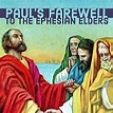 Paul bids farewell to the Ephesians