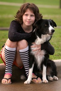 Lissa and her dog Chloe