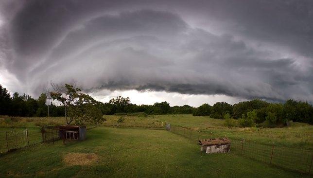 Approaching summer storm, Byng, Oklahoma, shot with 10-17mm Tokina fisheye