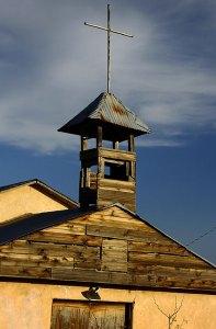 Church near Newkirk, New Mexico, November 2009, Velvia film simulation mode