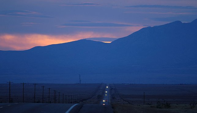 U. S. 60 and Ladron Peak, New Mexico after sunset, April 2006; this was one of the loneliest places I ever photographed, and I hope that is conveyed by the image. Still, it didn't break into the top five.