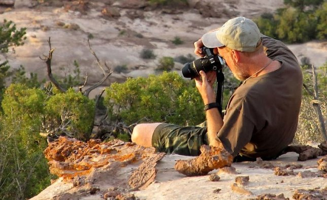Dennis Udink photographed me making pictures in The Maze District at Canyonlands National Park, Utah.