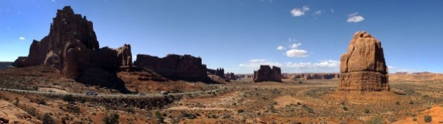 Panographs like this of Arches National Park are quick and easy most of the time with the HS30EXR. (Click, then click again to see it larger.)