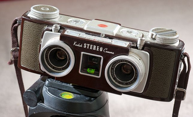 A work of art that makes works of art: the Kodak Stereo Camera of 1950s vintage.