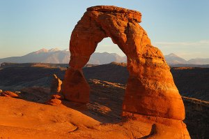 This is the original digital file, an image of the iconic Delicate Arch in Arches National Park, Utah, made in 2005.