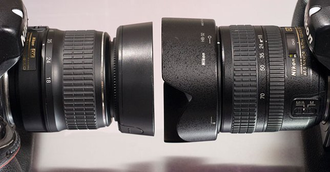 The 18-55mm vs the 18-70mm