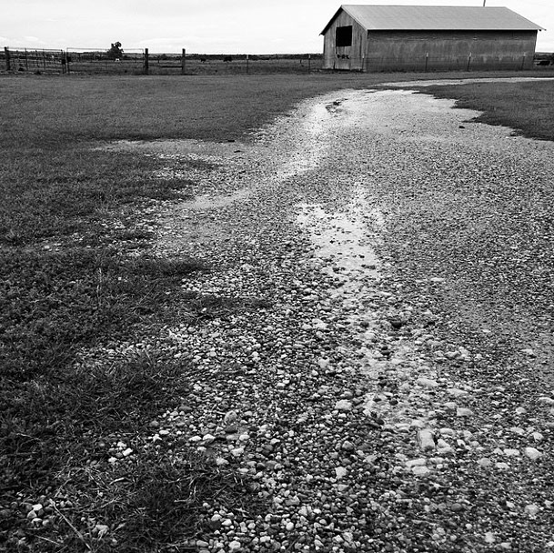 I made this image using Instagram in Ryan, Oklahoma, and applied one of the app's grayscale filter options.