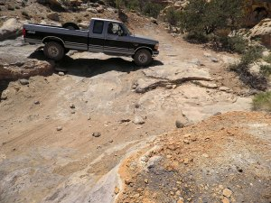 "This biggest obstacle to most visitors in The Maze District at Canyonlands is the ""road,"" seen here in 2012."