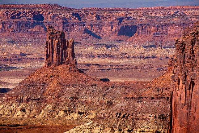 "This image of Candlestick Tower at Canyonlands National Park in Utah was made at the 200mm end of my 18-200mm ""travel"" lens."