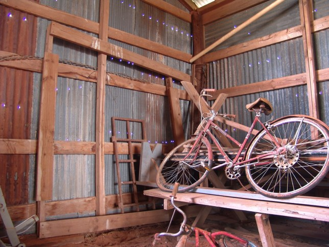 It didn't take me long to find examples of the Sony's F828's inclination to purple fringing, as seen in the extreme in this barn image; the holes in the barn should not be purple.
