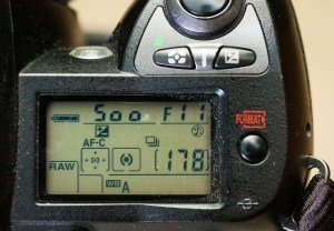 The top LCD display on the D70S contains most of the important information you need. Many new entry-level cameras put this info on the display on the back of the camera to save space.