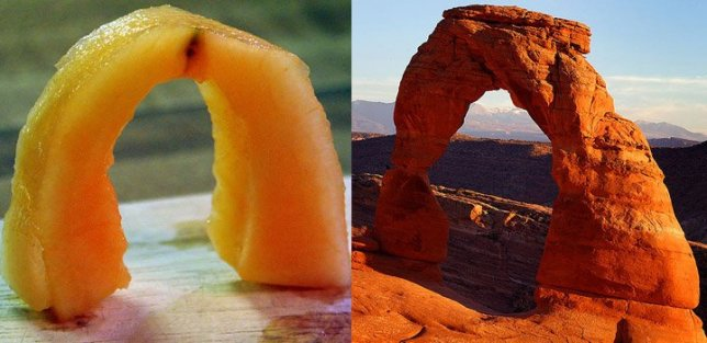 Cantaloupe vs Delicate Arch. Coincidence? I think not.