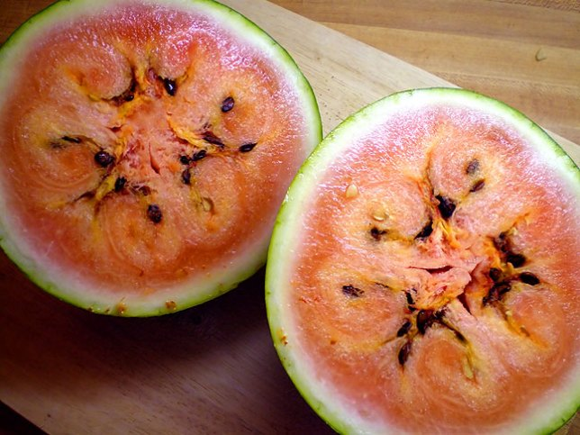 Frozen watermelon from the patch