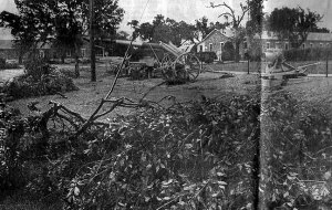 My first published news photo, of storm damage at Fort Sill north of Lawton, Oklahoma, May 17, 1982.