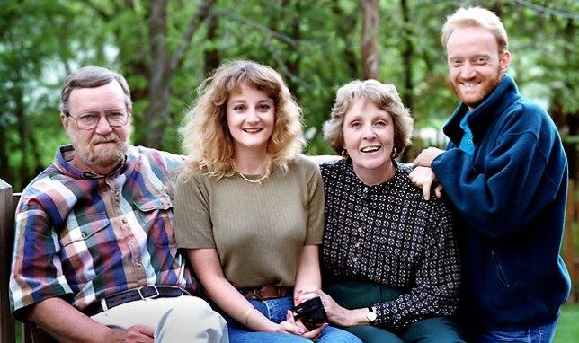 Joe Barron, Nicole Barron, Sarah Jo Barron, and Richard R. Barron, Spring 1996