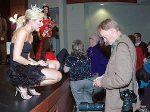 With Taylor Treat at the Miss Ada Pageant in November 2009 (Photo by Linda Shaefer)