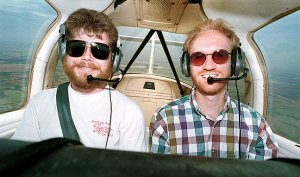 Flying a Piper Tomahawk from the Norman, Oklahoma airport with Michael, 1993.