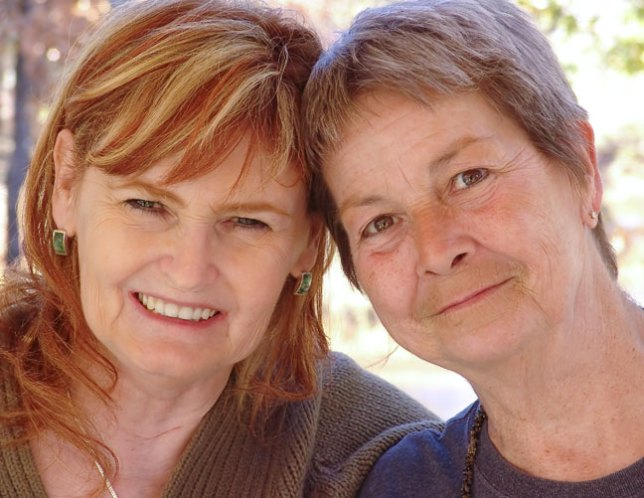 My wife Abby and her aunt Judy posed for this image at my request today at Judy's place in Duncan, Oklahoma.