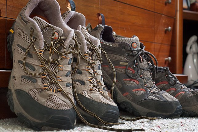These are my Merrill Moab Ventilators, an excellent lightweight hiking shoe.