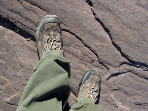 These are the L. L. Bean hiking shoes I tried to drown in Terlingua Creek in 2007. They survived the attempt, and are still comfortable and tough to this day.