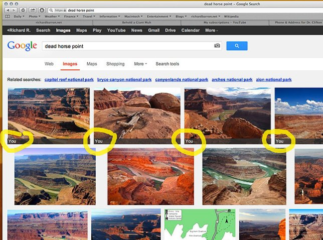 I have to say that I think this kind of smart search is really cool. I'll also add that my images of Dead Horse Point are sorely lacking compared to some I found, and I'm going to try to remedy that.