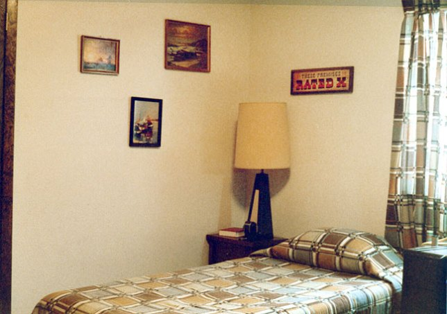 This is the southeast corner of my room in 1979.