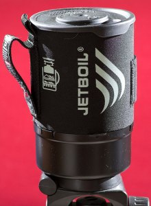 This is my new JetBoil camp stove in its stored configuration.