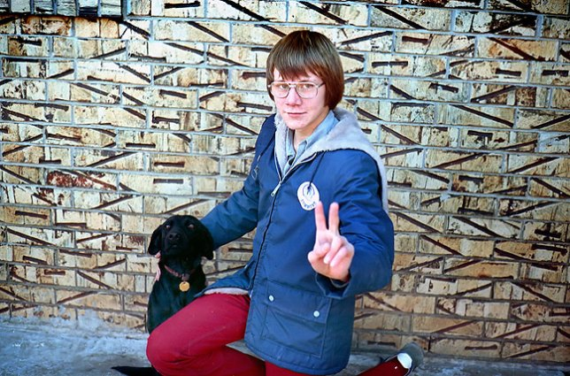 This is an image of Keith Berry when we were in sixth grade, 1975. The dog is Ladybug.