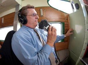Brian Brasier captures audio for his KCNP report.