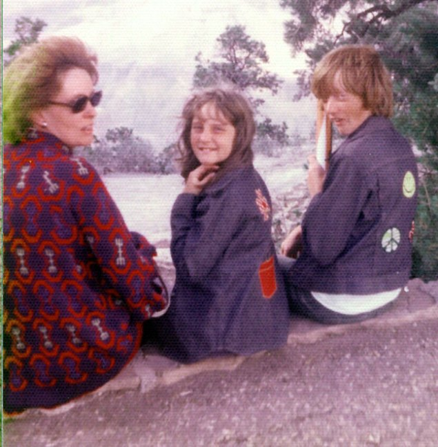 Mom, Nicole and I pose on the South Rim of the Grand Canyon. I can't speak for Nicole's attire, but this was my favorite jacket for years.