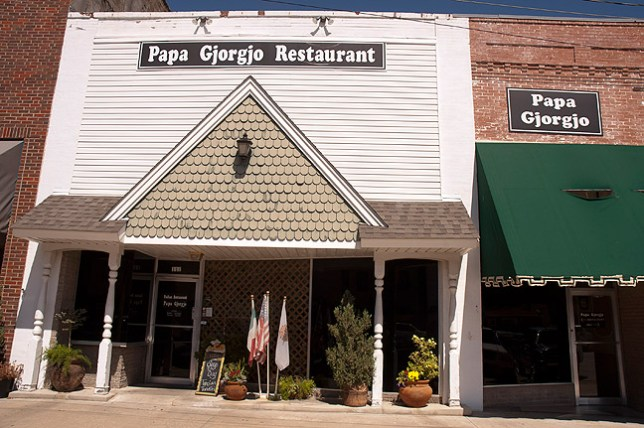 This is the downtown location of Papa Gjorgjo Italian Restaurant, where Abby and I had our first date in 2003.