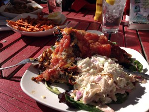 Also on the road, I got this very generous, very tasty chili rellenos at The Hollar in Madrid, New Mexico.