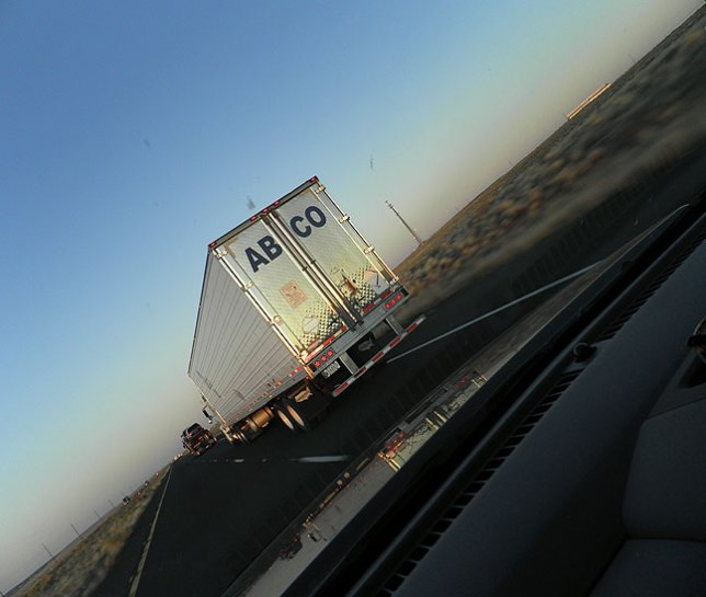 The light and the moment of this truck passing us on an Arizona highway at sunset in October 2011 couldn't have been made without having a camera within reach, ready to shoot.